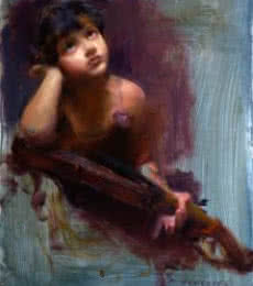 Pramod Kurlekar | Oil Painting title Imagine A New Tune on Canvas | Artist Pramod Kurlekar Gallery | ArtZolo.com