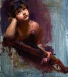 Imagine A New Tune   Painting by artist Pramod Kurlekar   oil   Canvas