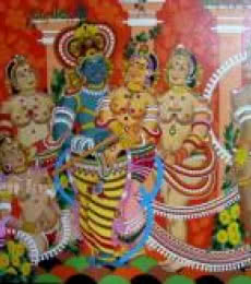 Rasaleela | Painting by artist Narayanankutty Kasthuril | Acrylic | Canvas Board