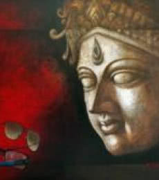 Palash Halder | Acrylic Painting title Intuition Of Inner Eye on Canvas | Artist Palash Halder Gallery | ArtZolo.com