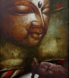 Seen Unseen 1 | Painting by artist Palash Halder | acrylic | Canvas