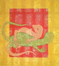 Love 1 | Painting by artist Ram Prasad Halder | tempera | Canvas