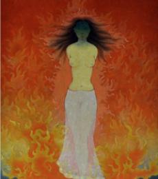 Seeta   Painting by artist Ram Prasad Halder   tempera   Canvas