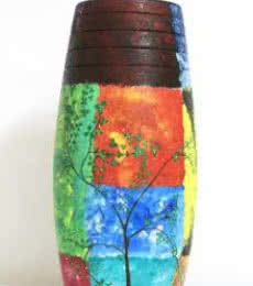 Akanksha Rastogi | Hand Painted Nature Vase Craft Craft by artist Akanksha Rastogi | Indian Handicraft | ArtZolo.com