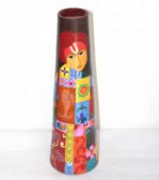 Hand Painted Krishna Vase | Craft by artist Akanksha Rastogi | Terracota