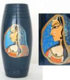 Hand Painted Rani Vase | Craft by artist Akanksha Rastogi | Terracota