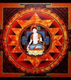 Figurative Acrylic Art Painting title Spiritual Buddha by artist Ajay Meshram
