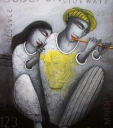 Love Tune | Painting by artist Samir Sarkar | acrylic | Paper