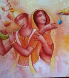 Gift of Love | Painting by artist Samir Sarkar | acrylic | Canvas
