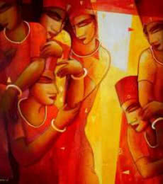 Inspiration | Painting by artist Samir Sarkar | acrylic | Canvas