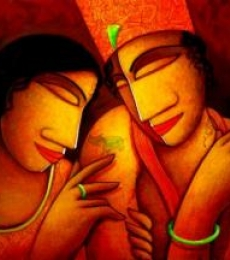 Someone Special | Painting by artist Samir Sarkar | acrylic | Canvas