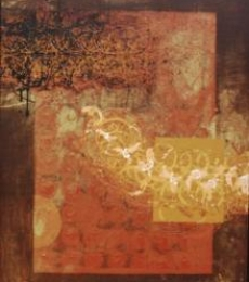 Abstract Mixed-media Art Painting title 'Textured Abstract II' by artist Sidharth Pansari