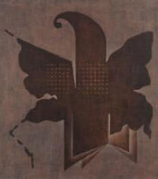 Brown Fold Abstract | Painting by artist Santosh More | oil | Canvas