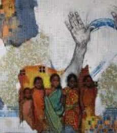 Figurative Acrylic Art Painting title Mother by artist Ramchandra Kharatmal