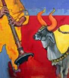 Samvad 2/7 | Painting by artist Ramchandra Kharatmal | acrylic | Canvas