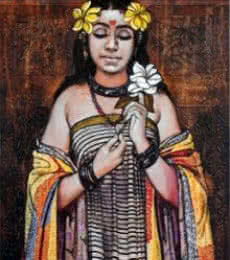 Figurative Acrylic Art Painting title 'Peace Beauty' by artist Ramchandra Kharatmal