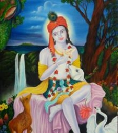Krishna | Painting by artist Mitesh Suthar | oil | Canvas Board