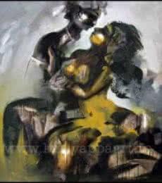 Temple Sculpture | Painting by artist Kariyappa Hanchinamani | acrylic | Canvas