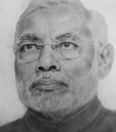 Narendra modi sketch | Traditional art by artist Gaurav Rana | Other | Paper