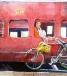 Oldraildays | Painting by artist Chetan Agrawal | watercolor | Handmade Paper
