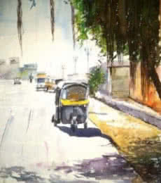 Watercolor - 5 10x14 | Painting by artist Chetan Agrawal | watercolor | Handmade Paper