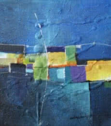 Remnant AM01 | Painting by artist Amrish Malvankar | mixed-media | Canvas