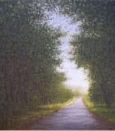 Landscape Oil Art Painting title 'Nature Way' by artist Fareed Ahmed
