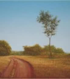Fareed Ahmed Paintings | Oil Painting - Road Less Travelled by artist Fareed Ahmed | ArtZolo.com