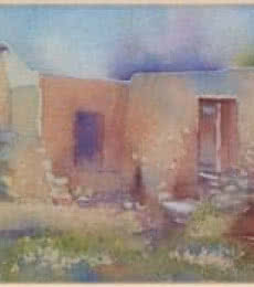 Fareed Ahmed | Watercolor Painting title Old House on Canvas Board | Artist Fareed Ahmed Gallery | ArtZolo.com
