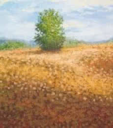 Landscape Oil Art Painting title Bush by artist Fareed Ahmed