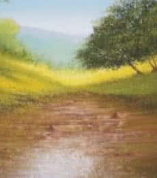 Fareed Ahmed | Oil Painting title winter greenery on Canvas Board | Artist Fareed Ahmed Gallery | ArtZolo.com