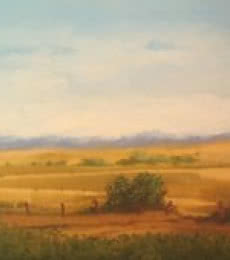 Landscape Oil Art Painting title 'Landscape' by artist Fareed Ahmed