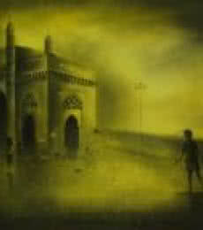 Cityscape Acrylic Art Painting title 'Gateway Of India 2' by artist Somnath Bothe
