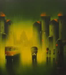 Monsoon   Painting by artist Somnath Bothe   acrylic   Canvas