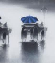 Rhythmic Monsoon Ride | Painting by artist Somnath Bothe | mixed-media | Canvas