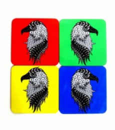 Albert Coasters | Craft by artist Rithika Kumar | MDF Wood