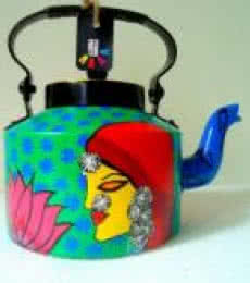 Bewitched Tea Kettle   Craft by artist Rithika Kumar   Aluminium