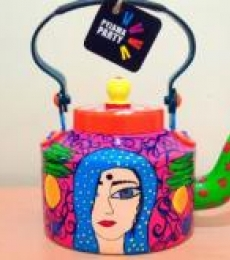 Comfort In Coy Tea Kettle   Craft by artist Rithika Kumar   Aluminium