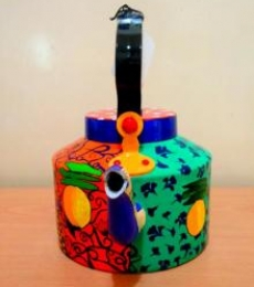 Desi Gone Wild Tea Kettle | Craft by artist Rithika Kumar | Aluminium
