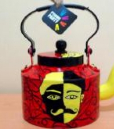 Double Trouble Tea Kettle | Craft by artist Rithika Kumar | Aluminium