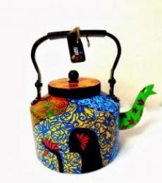 Hawaiian Girl Tea kettle | Craft by artist Rithika Kumar | Aluminium