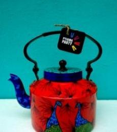 Mystic Garden Tea Kettle | Craft by artist Rithika Kumar | Aluminium