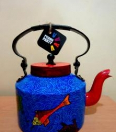Koi Tea Kettle | Craft by artist Rithika Kumar | Aluminium