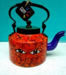 Eye Opener Tea Kettle | Craft by artist Rithika Kumar | Aluminium