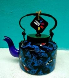 Eye Spy Tea Kettle | Craft by artist Rithika Kumar | Aluminium