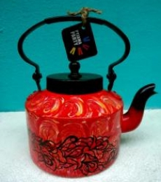Fireflecks Tea Kettle | Craft by artist Rithika Kumar | Aluminium