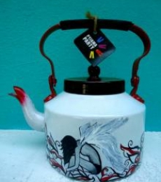 Fallen Angel Tea Kettle | Craft by artist Rithika Kumar | Aluminium