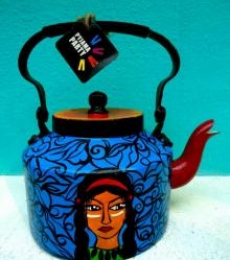 Red Indian Tea Kettle | Craft by artist Rithika Kumar | Aluminium