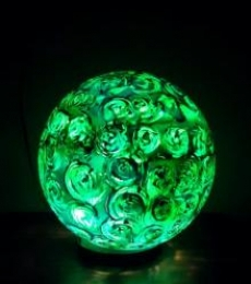 Kiwi Swirl Lollipop Table Lamps | Craft by artist Rithika Kumar | Reinforced Acrylic