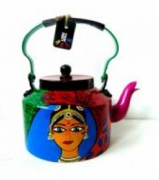 Rithika Kumar | Kathakali Tea Kettle Craft Craft by artist Rithika Kumar | Indian Handicraft | ArtZolo.com